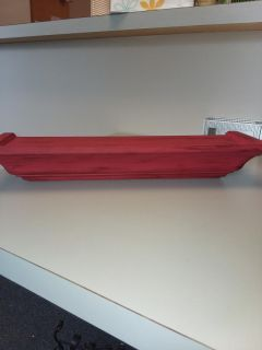 Distressed red shelf, SOLID wood