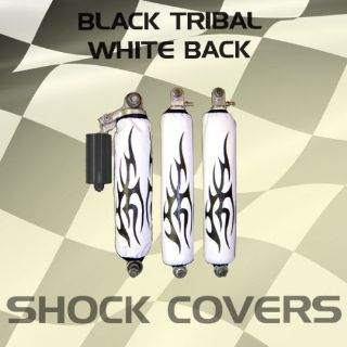 Purchase Yamaha raptor 90 Black Tribal White Shock Cover #ppp11751 nlw3761 motorcycle in Milwaukee, Wisconsin, United States, for US $29.99