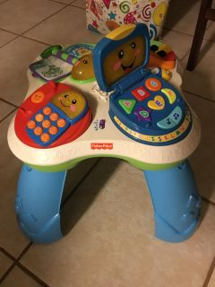 FISHER PRICE ADJUSTABLE LEARNING TABLE