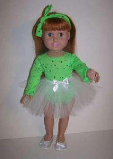 Doll TuTu, Leotard and Headband for 18 inch doll such as American Girl dolls