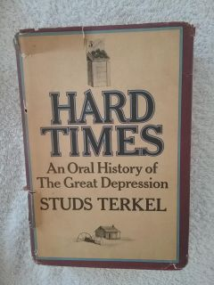 Vintage book Hard Times by Studs Terkel first edition