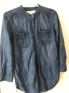 Button up jean jacket