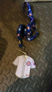 Cubs lanyard w/jersey patch