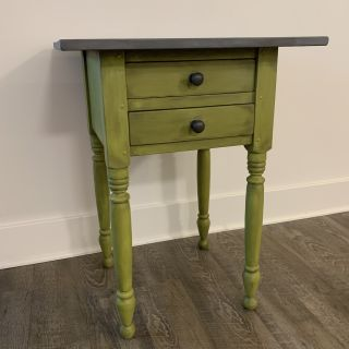 Upcycled Solid Wood Table w/ 2 Drawers (dovetails)