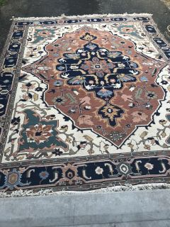 8 x 10 Persian heriz hand woven authentic rug for sale