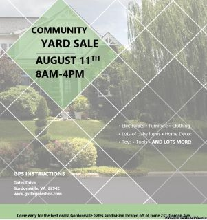 Gordonsville Gates Community Yard Sale