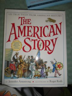 LARGE 'THE AMERICAN STORY' HARDCOVER BOOK WITH DUSTCOVER 1 OF 2 PICS NO SALE
