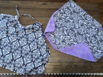 Matching Car Seat Cover and Nursing Cover