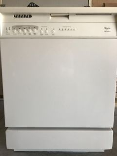 Whirlpool electric stove and dishwasher