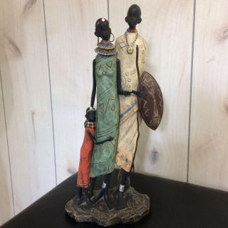 African Family Figurine