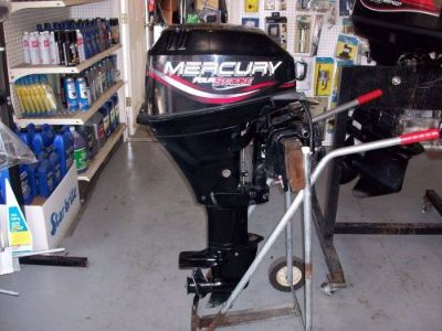 Find 1998 15 HP MERCURY 4-STROKE LONG SHAFT REMOTE WITHOUT CONTROLS motorcycle in Eagle, Michigan, United States, for US $1,400.00