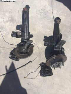 VW bug IRS rear arms with big Brembo brakes