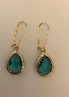 Handmade Earrings Turquoise faceted colored stone