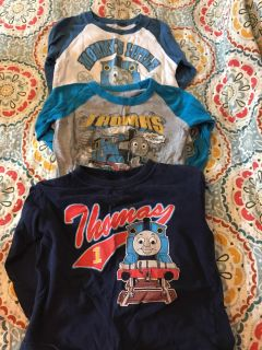Lot of 3 Thomas the train long sleeved shirts size 4T
