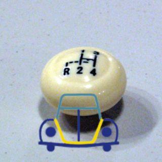 Beetle - Ghia Shifter Knob W/Shift Pattern, Ivory