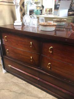 Mahogany mid century dresser