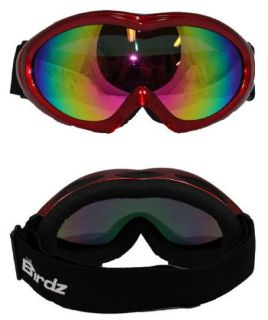 Find BIRDZ ICE BIRD SKI GOGGLES SNOW MOBILE SNOWBOARD RED REVO LENS motorcycle in Jacksonville, Florida, United States, for US $23.75