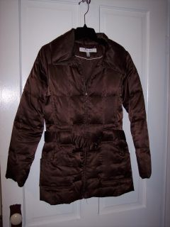 Chocolate brown CRAZY warm winter coat size 10/12