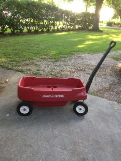 Radio Flyer red wagon 2 seater.