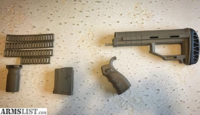 For Sale: Strike Industries & Magpul AR-15 Dark Earth full stock set w/ rail protectors and mag
