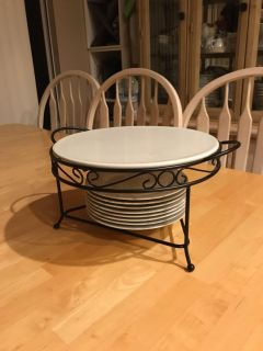 Serving stand with plates