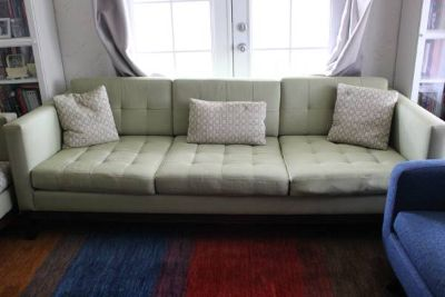Pistachio Tufted Sofa & Club Chairs