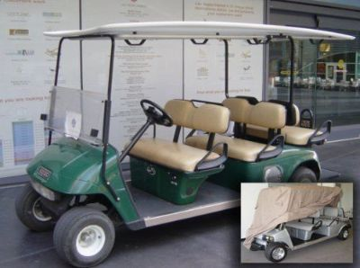 Find Deluxe 6 Passengers Golf Cart Cover fits E Z GO, Club Car, Yamaha model motorcycle in Irvine, California, United States, for US $69.99