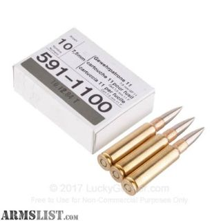 For Sale: 7.5x55mm/8x57mm ammo