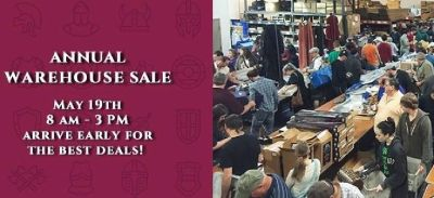 Annual Blowout sale at Museum Replicas & Atlanta Cutlery. Everything will be 20% to 80% off!