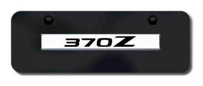Buy Nissan 370Z Name Chrome on Black Mini-License Plate Made in USA Genuine motorcycle in San Tan Valley, Arizona, US, for US $33.38