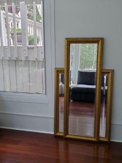 2 large mirrors in the same style.