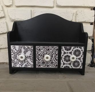 Cute black and white wall or table top shelf
