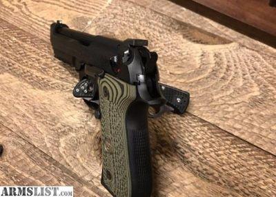 For Sale: Wilson Combat 92G - Brigadier Tactical Beretta 92 Semi Auto Pistol Includes Custom Shop Wilson Beretta Action Tune