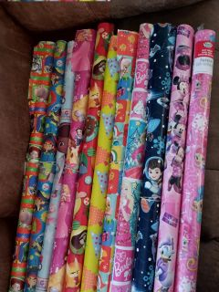 11 rolls of wrapping paper