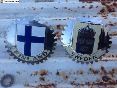 Finland & Sweden vintage car badges