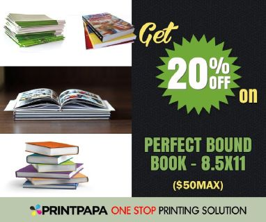 20% Off on Perfect Bound Book - 8.5x11 from PrintPapa