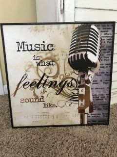 Set Of Two Pictures Music Is What Feelings Sound Luke and Where Words Fail, Music Speaks