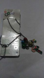 long chain with christmas canes and bells. nwt