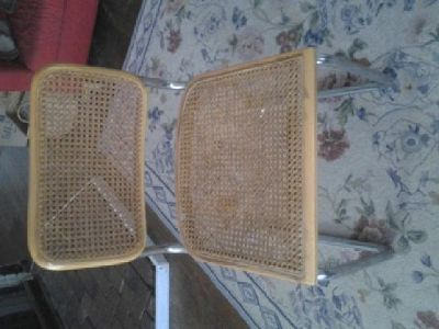 $1,600 OBO Set of eight Marcel Breuer B32 Cesca Chairs - Need work