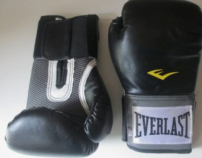 Boxing Gloves Everlast Pro Style Elite Training Gloves- Black 8 Oz