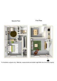 2 Bedroom Townhouse style apartment