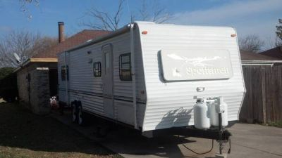 04 sportsman toy hauler 29 foot what slide out ac awning