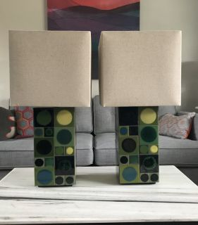 West Elm Table Lamps - Set of 2.
