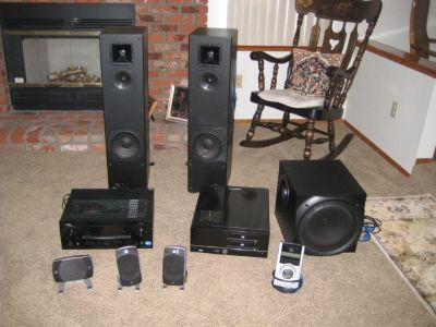 Amplifier/Receiver/dvd player/Speakers/4 components