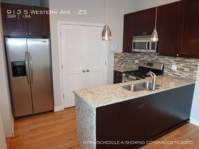 3 bed/ 1 bath with amazing private patio and gated parking included (additional parking available!!) 8/1