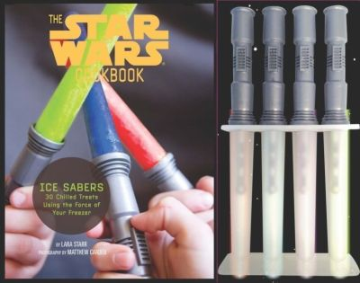 Star Wars Cook Book Ice Sabers Chilled Treats Cookbook Lightsaber Ice Pop Molds 2013