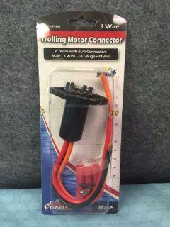 "Boater Sports Trolling Motor Female Connector 6/"" 3 Wire 10 Gauge 24V 51444"