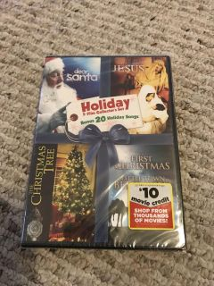 New CHRISTmas Dvd has 4 movies Sales for $5.50 Asking $2