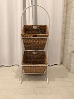 Two basket standing rack