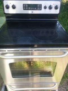 Ge five burner stainless steel stove